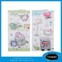 Plastic diy happy birthday greeting cards made in China