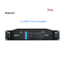 leipasi brand name D series D-6 professional audio power amplifier with 2*650w