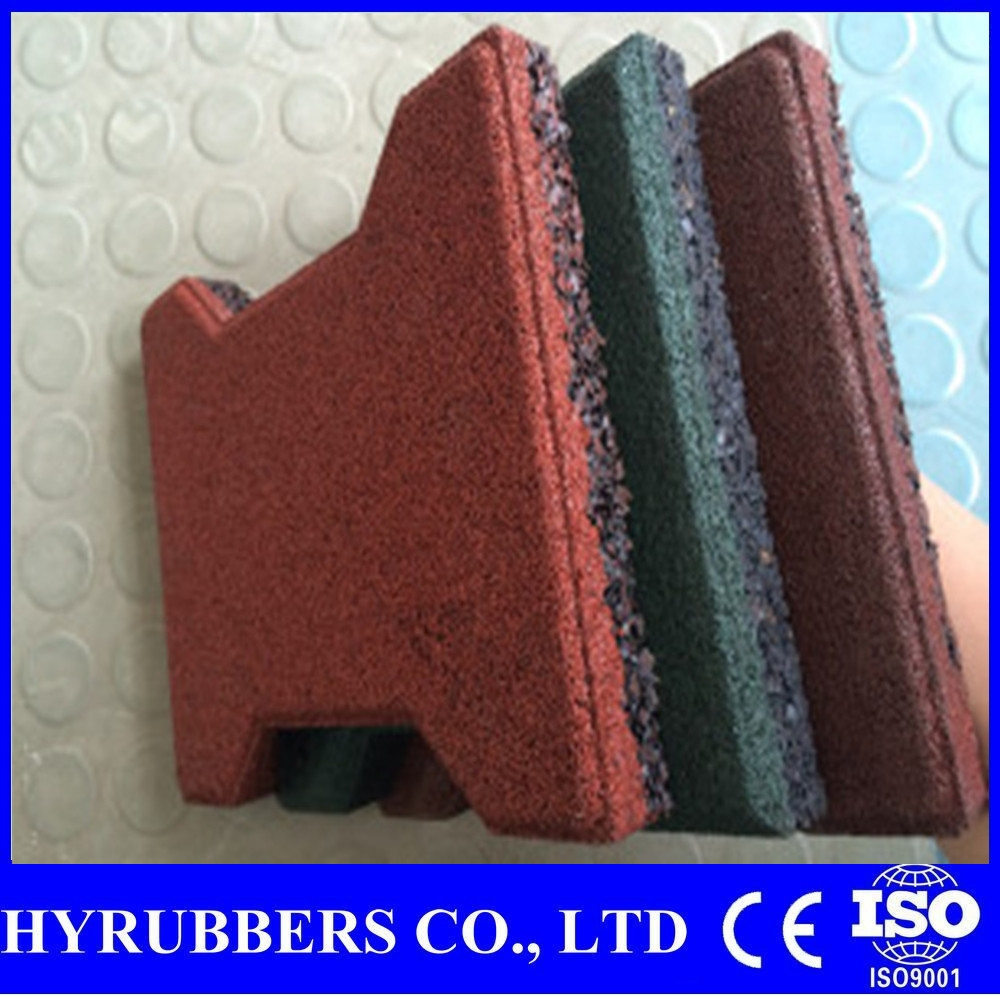 Qingdao sale outdoor pathway tiles, cheap 1 inch thick rubber mat