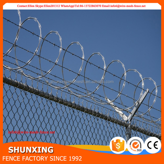 High Security HDG Bto22 Razor Concertina Barbed Wire From Anping
