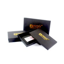 Customized size black packaging gift paper box manufacturer
