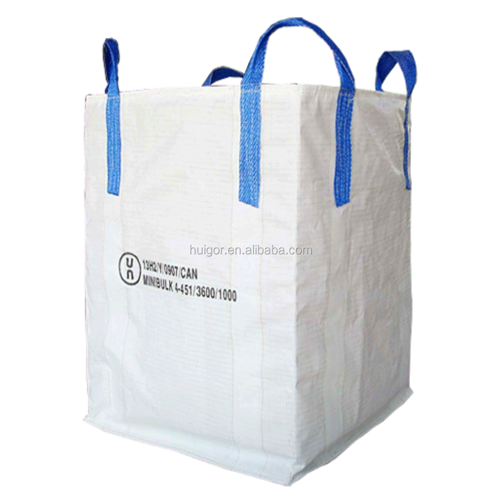 wholesale 1 ton woven polypropylene jumbo bags and shipping sacks for packing industrial salt and grain