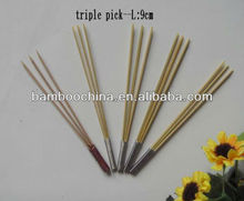 three bamboo pick/skewer/stick