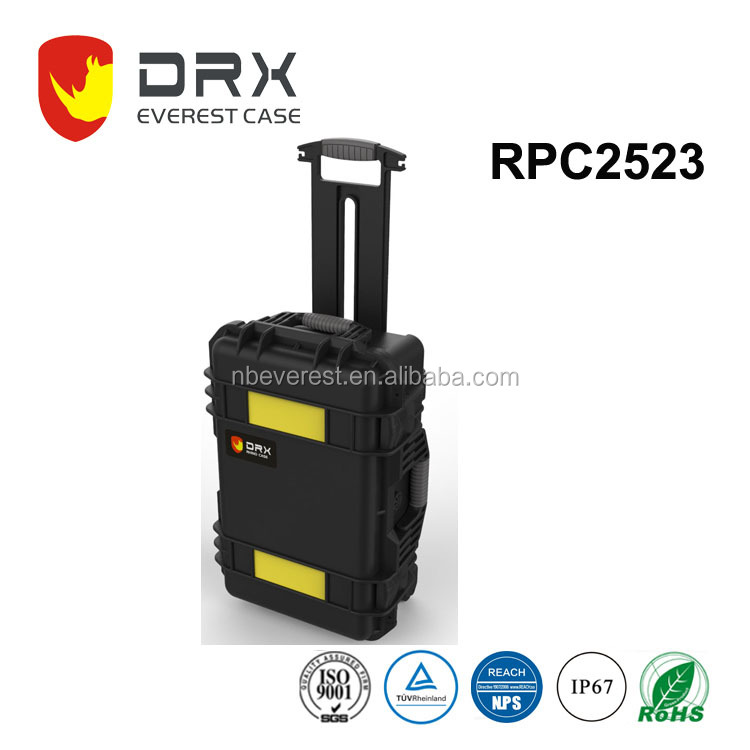 IP67 fight case carrying Drone protective Plastic equipment Case with virgin foam