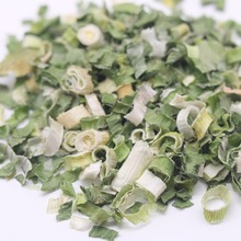 Dehydrated green spring chive onion
