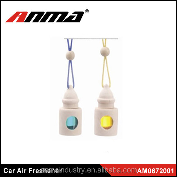 Car Hanging Perfume Essential Oil Bottle Freshener / Car Air Freshener