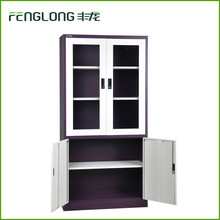 Lab office furniture mirrored file cabinet steel cabinet with glass door