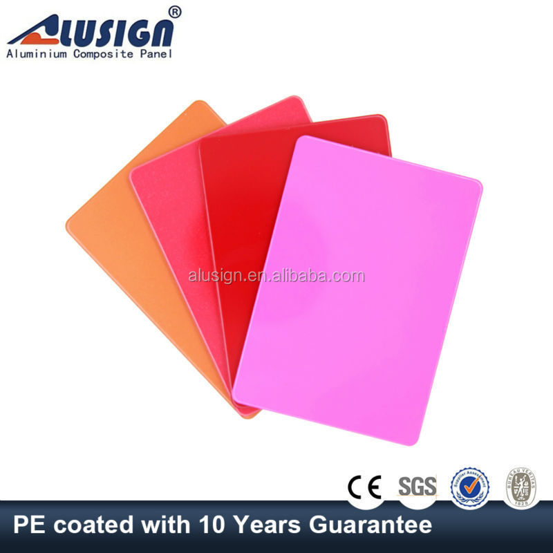 Alusign bright color insulated PE coating acp acm aluminum composite panel sheet