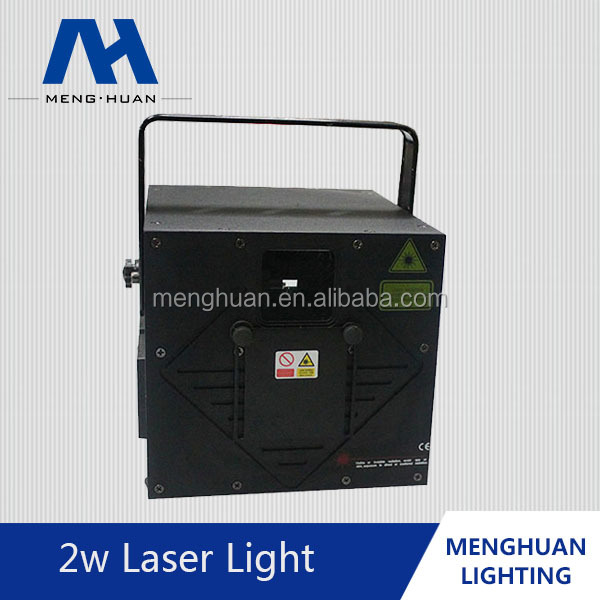 New Arrival Middle Range 2W RGB Animation Laser/RGB laser dj/ Full Color Animation Laser Light