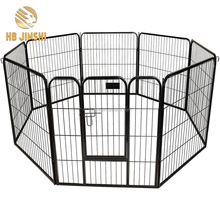 8pcs panel Large Heavy Duty Cage Pet Dog Cat Barrier Fence Exercise Metal Play Pen Kennel