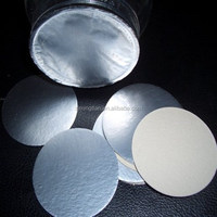 Silver foil induction seal for containers