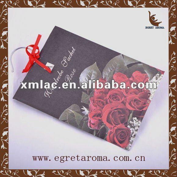 rose paper fragrance sachet for wardrobe
