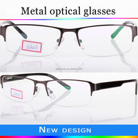 2016 hot selling optical frames,half-rim metal frames glasses with high quality