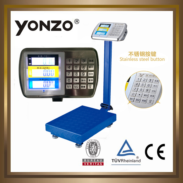 YZ-909 100kg to 500kg electronic digital platform weighing scale heavy metal test equipment