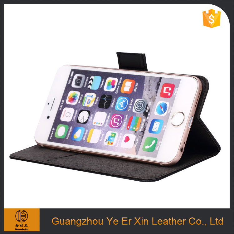 2017 hot sale guangzhou free sample OEM leather mobile phone case for iphone 6 6s 7 plus