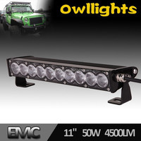 "Super Bright 10"" 5W 4x4 LED Driving Light Bar Single Row for Offroad, 4x4,SUV,ATV,4WD, Truck, CE,IP68,RoHs,E-mark"