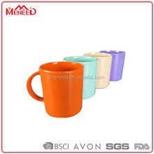 China directly price melamine mug solid assorted colors custom 12oz plastic cup