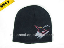 2013 winter kids acrylic knitted offset print hat beanie