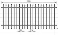 China supplier solid metal fence panel for sale