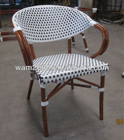 garden aluminum bamboo look dining chair for outdoor