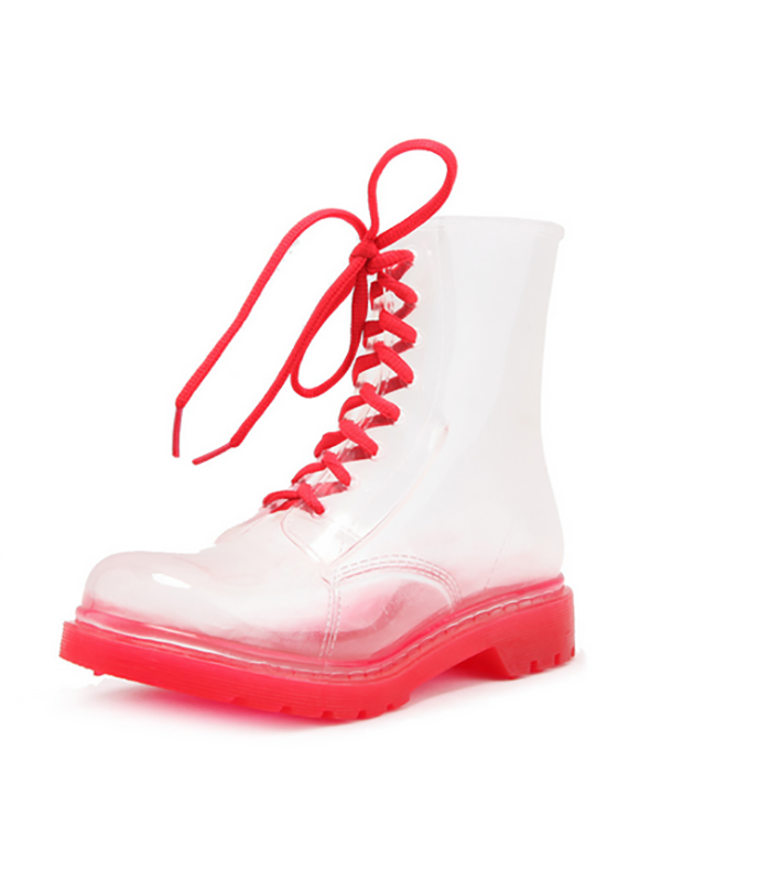 High quality cheap PVC transparent rain boots for kids men and women