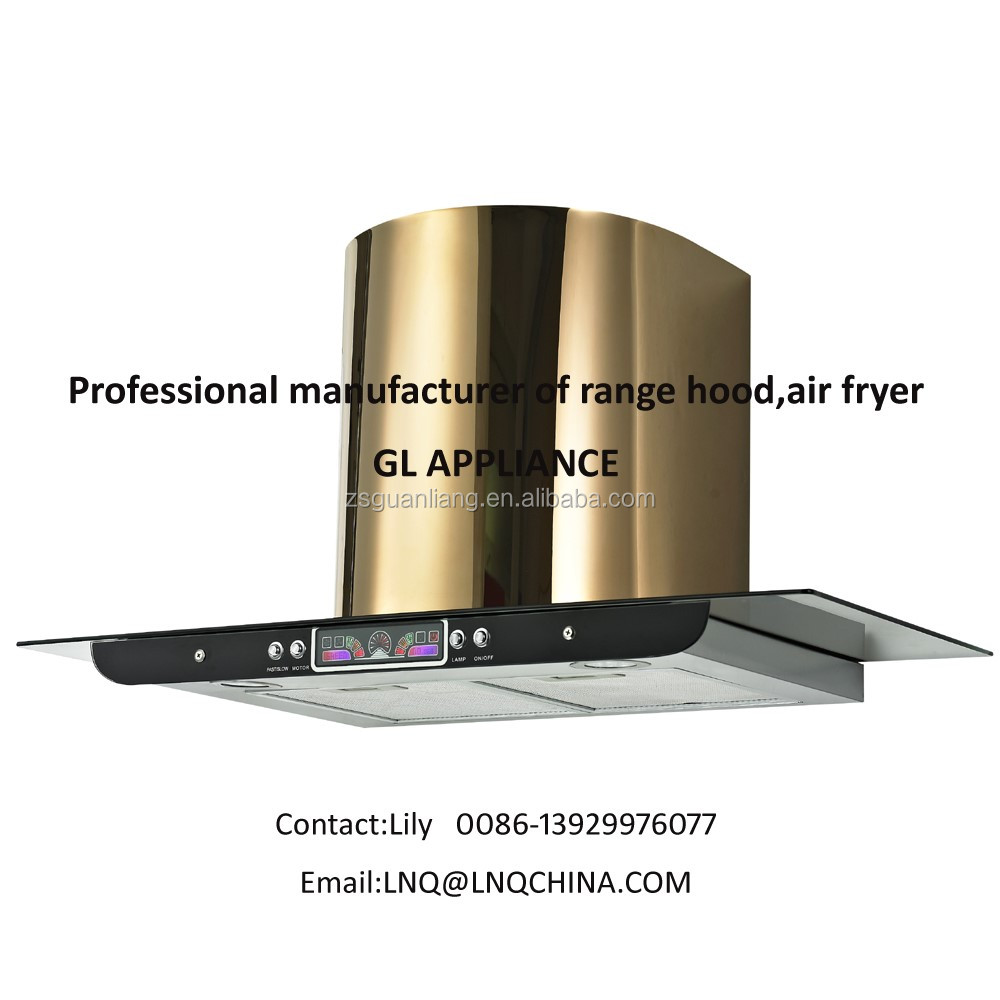 hot sell products 2017Middle East market kitchen machine golden S.S range hood cooker hood chimney hood
