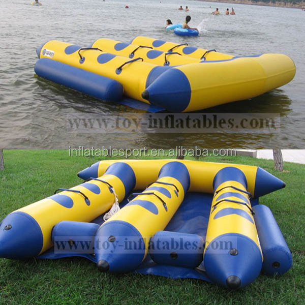 Free shipping high quality fun water sport inflatable flying bananas