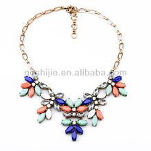 Fashionable Accessories Handmade Perfume Colorful Rhinestone Statement Necklace