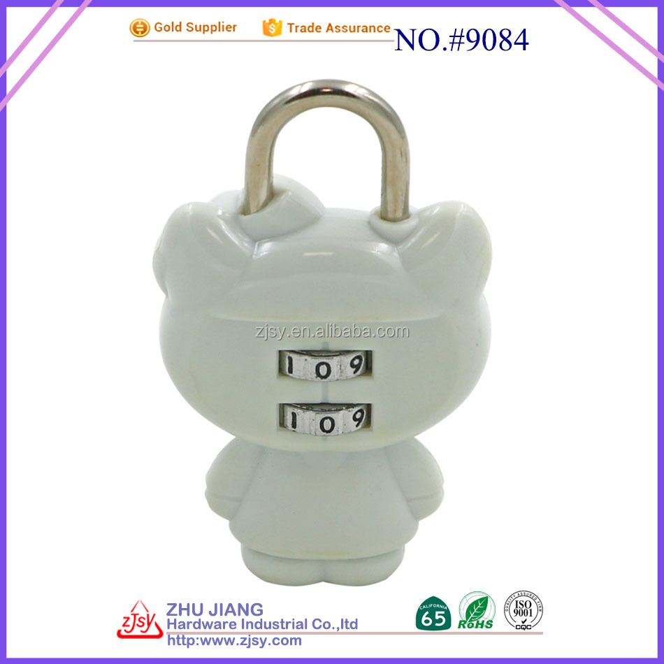 Zhujiang Hardware Industrial Lovely 3 Digit Plastic Case Locker Combination Cam padLock