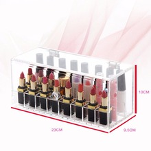 clear acrylic lipstick holder with hinged lid