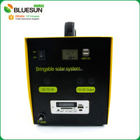 Bluesun 10w 15w 30w 50w 100w home use system portable solar panels stands for renters