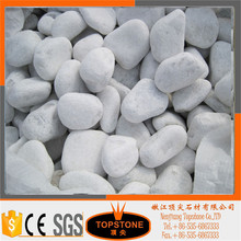 Hot sale natural tumbled polished snow white pebble stone for landscaping and garden