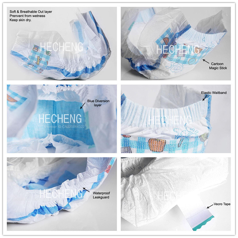 Wholesale Nice Baby Diaper with Soft Raw Material