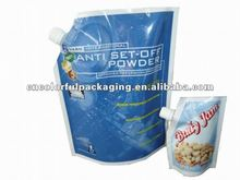 Soybean Milk Doypack Custom Printed/Unprinted Energy Drinks or Beverage Stand Up Spout Pouch with High Quality