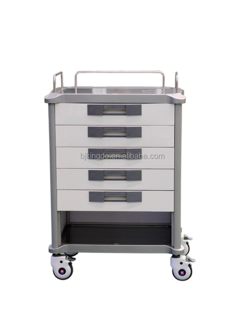 Hospital Medical Drug / Medicine Trolley / Cart with Drawer