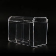 BIG Crystal plastic Exquisite cosmetic Organizer Case Clear Skin Care Storage holder Multifunction Transparent flip Makeup Box