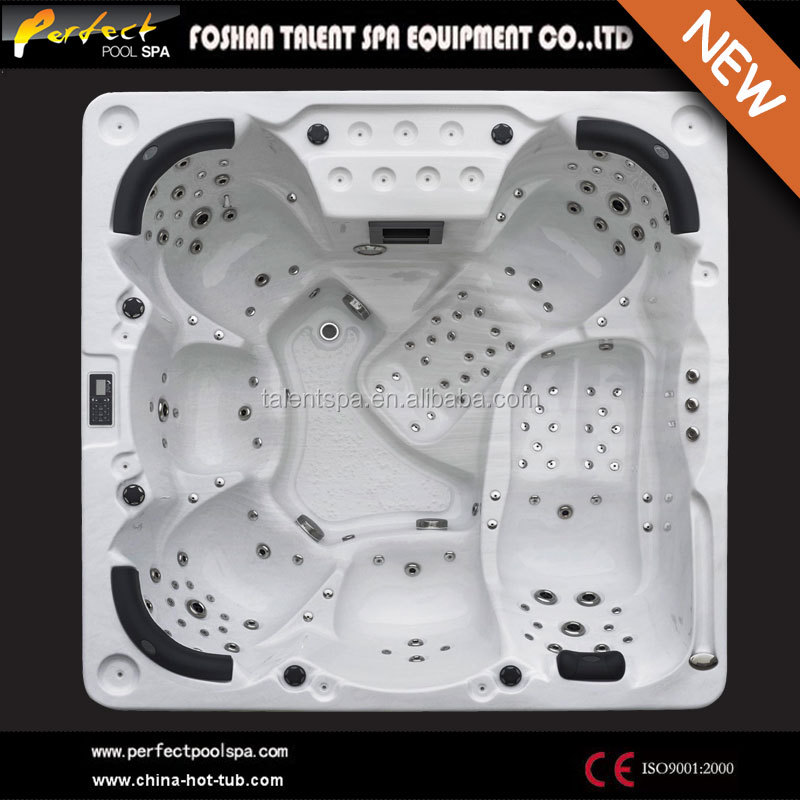 Hot Sale PVC Skirt outdoor spa 138 jet hot tub 6 person pool spa