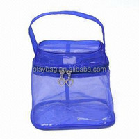 blue mesh cosmetic bags