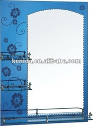 Bathroom double layer mirror