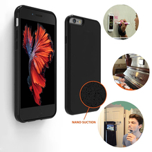Nano Suction Silicone Magical Anti Gravity Case For iPhone 7 7Plus Back Cover Adsorbed Stick Car Antigravity Phone Cover Shell
