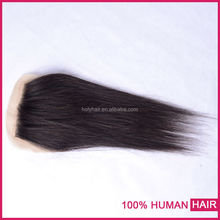 6A Free Shipping Brazilian Virgin 100% Human Hair Closures Straight hair Lace Closure 4*4 Middle 3 Way Free