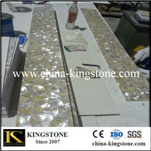 Pure white Chinese freshwater river shell mosaic tile
