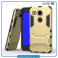 Korea Style Factory Price Bracket Armor TPU PC Cover case for nexus 5