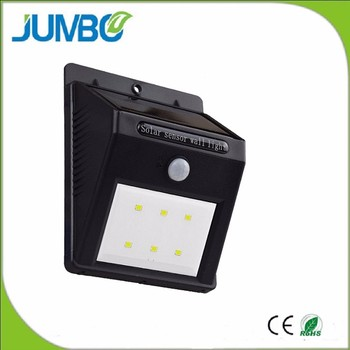 China manufacturer offer low price 6 led solar motion sensor wall light