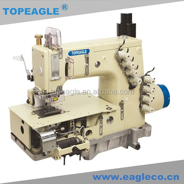 TOPEAGLE TMN-1404P-D 4 needle flat-bed double chain stitch kansai special industrial sewing machine