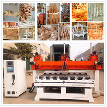3d cnc mesin ukiran kayu / 5 axis multi spindle cnc router