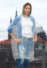 PE available all over logo printed rain poncho promotion / Custom brand logo high quality clear waterproof rain poncho