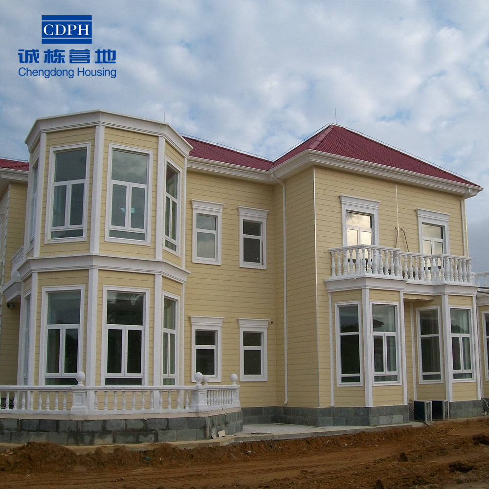 Good price prefabricated luxury villa ,light steel structure luxury villa
