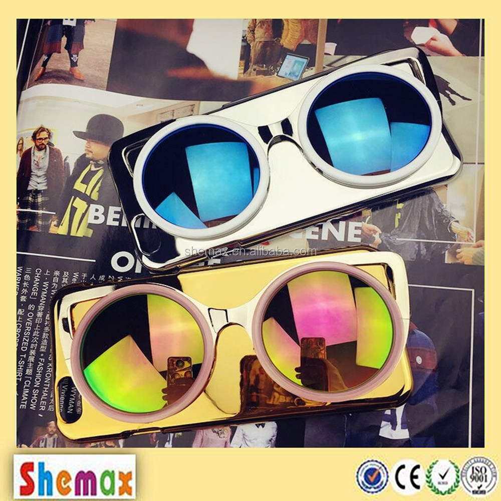 Wholesale 3D sun glasses mobile phone case for iPhone 6 5 5s Mirror Case for iphone 6 5 5s