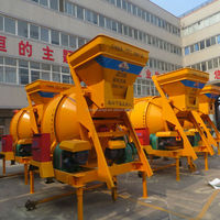 Easy operate with wheels JZC 500 electrical 500L concrete mixer